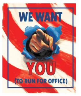 We want you to run for office!